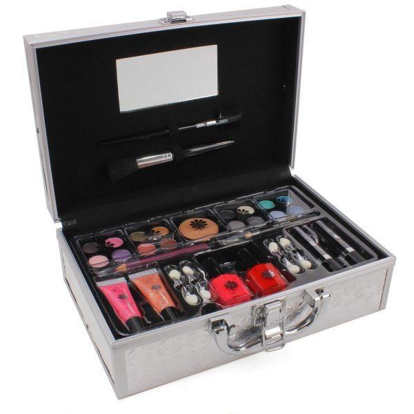 33 Piece Silver Vanity Case